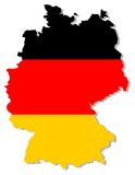 Germany flag inside country border Stock Photos