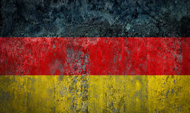 Germany Flag painted on a Wall. Ddistressed Painting of a Flag on an old Wall Royalty Free Stock Photo