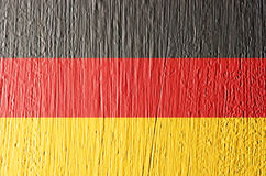 Germany flag painted on wall, texture background. Stock Images