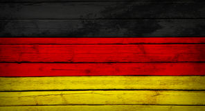 Germany flag painted on wooden boards Stock Images