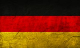 Germany Flag on Paper. Flag on an old Paper Texture Stock Photos