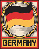 Germany flag poster Royalty Free Stock Image