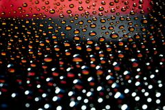 Germany flag. Reflection of Germany flag on water droplet Stock Photo