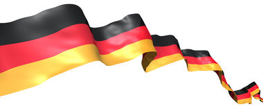 Germany flag ribbon Stock Images
