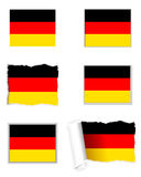 Germany flag set Stock Photo