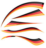 Germany flag set Stock Image