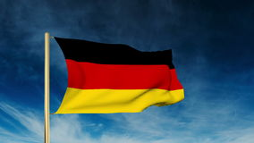 Germany flag slider style. Waving in the win with stock video footage