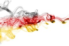 Germany flag smoke. Isolated on a white background stock images