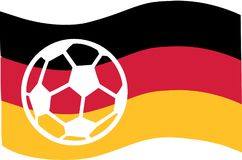 Germany flag with soccer ball. Vector Vector Illustration