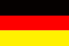 Germany flag symbol national country background patriotic textile europe german Wooden fence Heart Stock Images