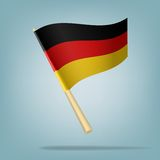 Germany flag, vector illustration Stock Photography