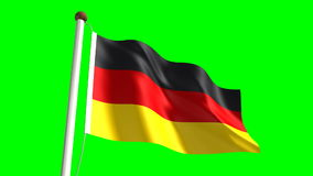 Germany flag stock video