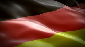 Germany flag video waving in wind. Realistic Deutchland Flag background. German Flag Looping Closeup 1080p Full HD 1920X1080 foota stock illustration