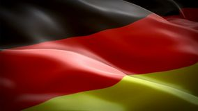 Germany flag video waving in wind. Realistic Deutchland Flag background. Germany seamlessly looping flag Closeup 1080p Full HD 192