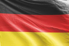 Germany Flag waving, 3D Realistic Germany Flag Rendered. Image vector illustration