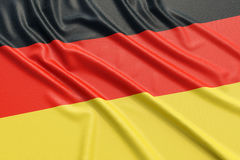 Germany flag. Wavy fabric high detailed texture. 3d illustration rendering stock illustration