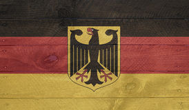 Germany flag on wood boards with nails Royalty Free Stock Photos