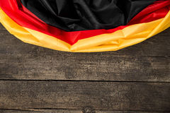 Germany Flag on wooden Table with copyspace Royalty Free Stock Image