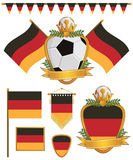 Germany flags Royalty Free Stock Photo