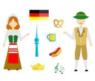 Germany flat dsign Royalty Free Stock Photos