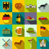 Germany flat icons. Set for web and mobile devices Stock Images