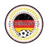 Germany football elegant sticker for print Stock Images