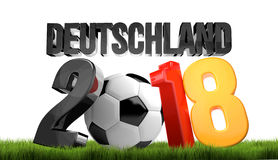 Germany 2018 football soccer 3d render. Illustration Royalty Free Stock Photography