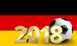 Germany Football soccer sports ball 3D. Render Royalty Free Stock Image