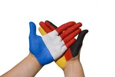 Germany and france. A handshake between france and germany Royalty Free Stock Images