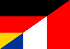 Germany france flag Royalty Free Stock Photo