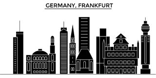 Germany, Frankfurt architecture vector city skyline, travel cityscape with landmarks, buildings, isolated sights on royalty free illustration