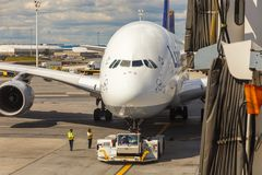 Airbus A380 in Frankfurt Stock Photography