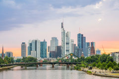 Germany Frankfurt skyline Royalty Free Stock Photography