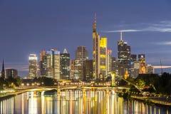 Germany Frankfurt Skylines Stock Photo