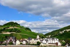 germany gammal liten stad Arkivbild