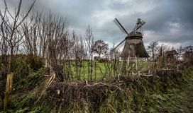germany gammal windmill Royaltyfri Fotografi