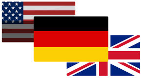 Germany Great Britain and america background Stock Image