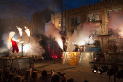 Germany group Titanic in spectacle. GDANSK, POLAND JULY 11 XVII International Street and Open-Air Theatres Festival. July 11, 2013. Gdansk Poland Royalty Free Stock Photography