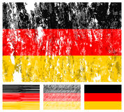 Germany grunge flag set Royalty Free Stock Images