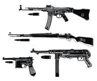 Germany guns. Quality German arms vectors, such as mp-44 mp-40, kar-98, Mauser Royalty Free Stock Images