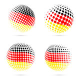 Germany halftone flag set patriotic vector design. royalty free illustration