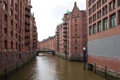 Germany, Hamburg, City of Warehouses. Famous City of Warehouses in Hamburg, Germany Stock Photos