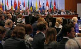 germany Hamburg Grudzień 9th 2016: Niemiecki ministra spraw zagranicznych Dr Frank-Walter Steinmeier przy Końcową sesją 23rd OSCE Fotografia Royalty Free