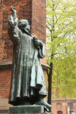 Germany. Hanover. Statue of Martin Luther against the background of ancient architecture Stock Photography