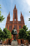 Germany,Hesse,Wiesbaden,View of Cathedral Marktkirche Stock Photography
