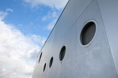 Germany, House facade with portholes Royalty Free Stock Image
