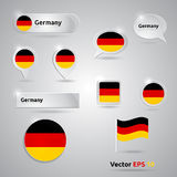 Germany icon set of flags Stock Image