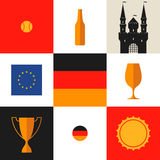 Germany. Icon set Stock Photography