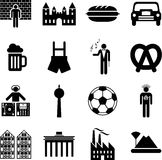 Germany icons. Some icons representing Germany and its traditions Stock Images