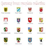 Germany icons collection against white Stock Image